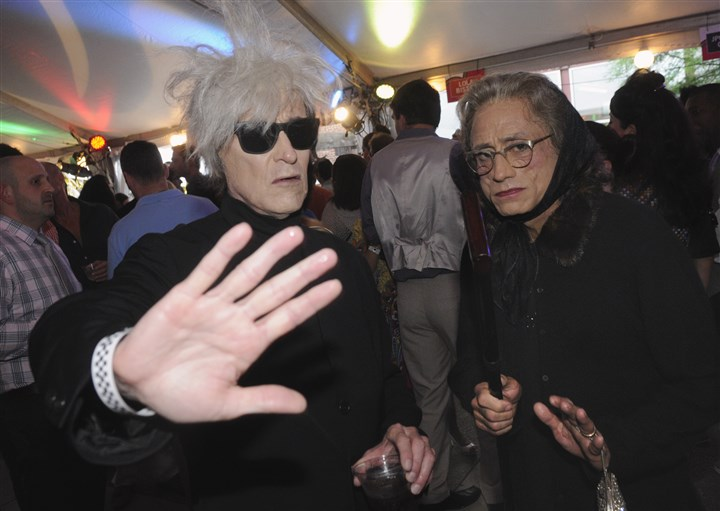 Urbanparty John Gates as Andy Warhol and Dennis Bergevin as Warhols mom at the Mattress Factory's Urban Garden Party in June.