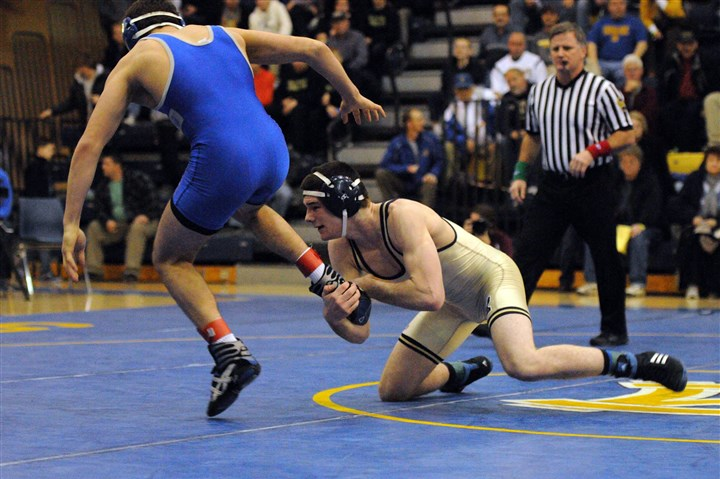 hswrestle0106 Franklin Regional's Tyler Smith was one of five Panthers to take home a gold medal at the Powerade Christmas tournament Dec. 27-28 at Canon-McMillan.