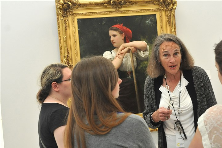 20140103_june.jpg Merle Culley, a docent at the Carnegie Museum of Art for 29 years.