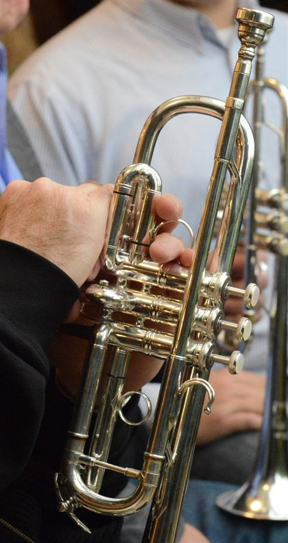 New York Bach trumpet A detail of New York Bach trumpet owner by Pittsburgh Symphony trumpet player George Vosburgh.