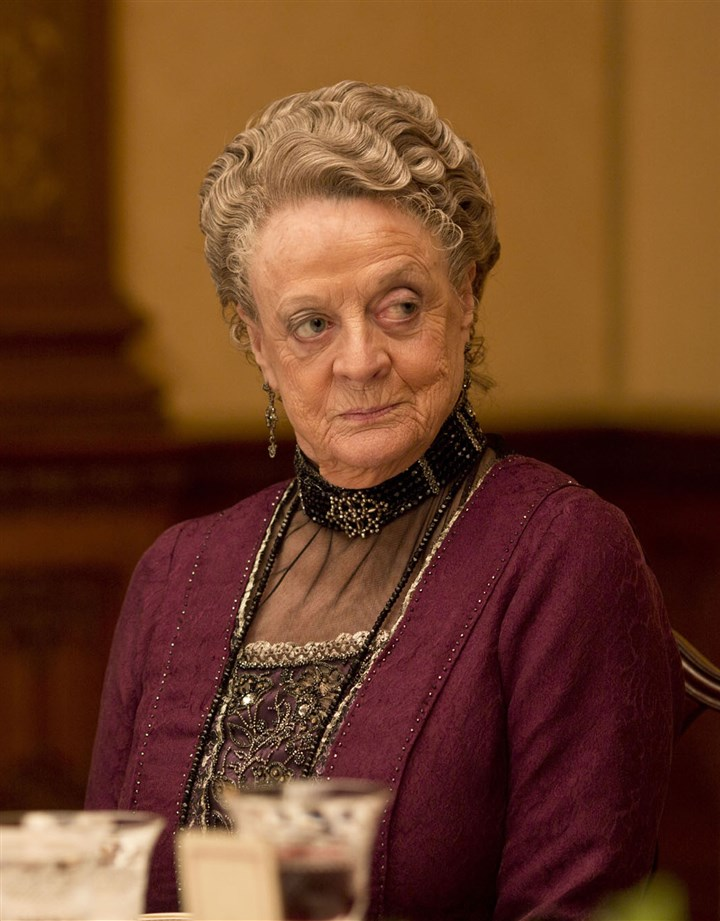 "Downton4 Maggie Smith as Violet, the Dowager Countess in ""Downton Abbey."""