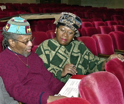 Penny/Lillie Rob Penny and Vernell A. Lillie, pictured in 1989, review scripts for Kuntu Repertory Theatre, which in 2013 presented its final play after 39 years. He was the company's master playwright and she its founder and artistic director.