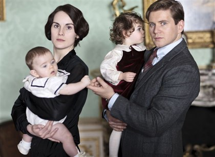 "Dockery/Branson Michelle Dockery as Lady Mary and Allen Leech as Branson in ""Downton Abbey."""