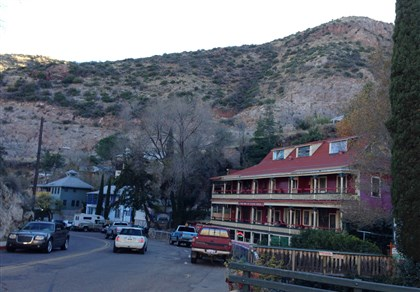 Bisbee The downtown of Bisbee, Az. is tucked into Mule Mountains.