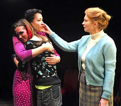 "LittleGem Robin Walsh (facing right), Hayley Nielsen and Cary Anne Spear were a three-generation ensemble in ""Little Gem"" at City Theatre. Ms. Walsh, who was PG Performer of the Year in 1998 and thus is ineligible this year, may have given Pittsburgh's single best performance of the year."