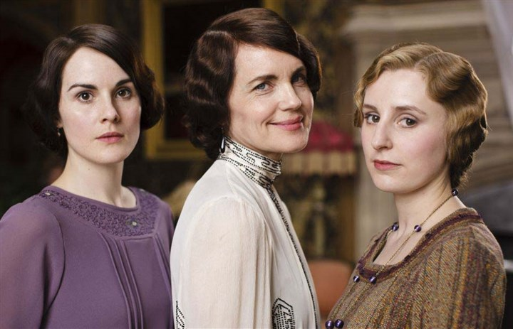 Downton13 Michelle Dockery, Elizabeth McGovern and Laura Carmichael.