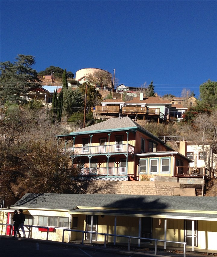 Bisbee2 The downtown of Bisbee, Az. is tucked into Mule Mountains.