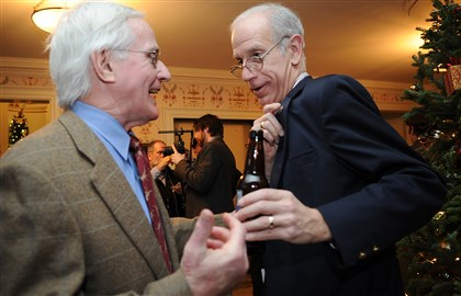 Murphy Former mayor Tom Murphy and Henry Posner Jr.