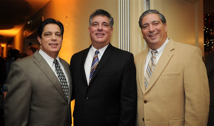 Costa Brothers Sen. Jay Costa, Peduto team member Guy Costa and state Rep. Paul Costa.