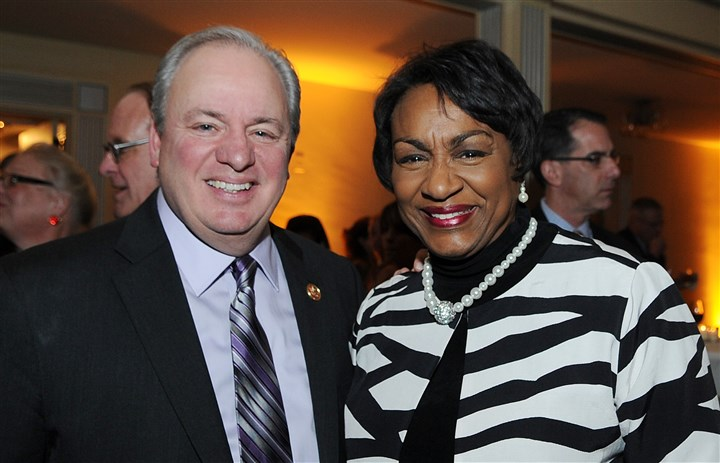 Doyle U.S. Rep. Mike Doyle and Peduto team member Valerie McDonald-Roberts.