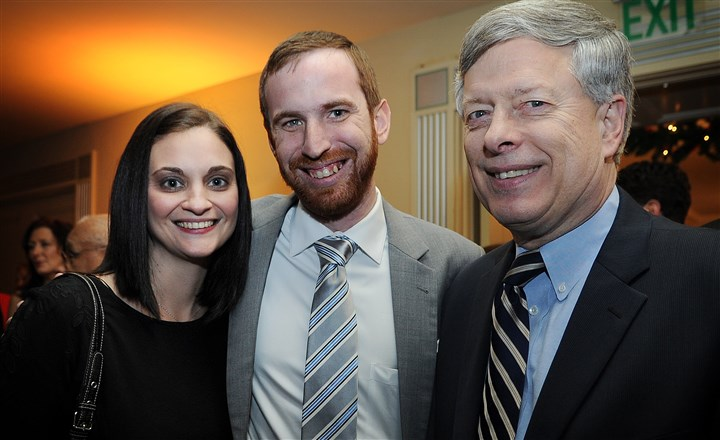 Kennedy Amanda Kennedy, new city councilman Dan Gilman and University of Pittsburgh Chancellor Mark Nordenberg.