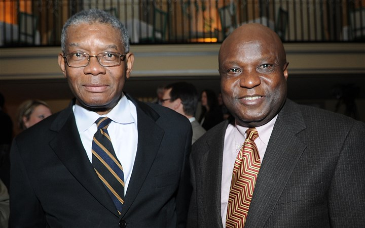 Tarry Businessman Blyden Terry and developer Nigel Parkinson.