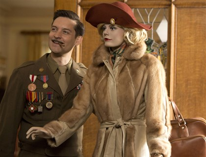 "Babylon Devon Morehouse (played by Tobey Maguire), left, and Lady Anne (voiced by Carey Mulligan) in ""The Spoils of Babylon"" on IFC."