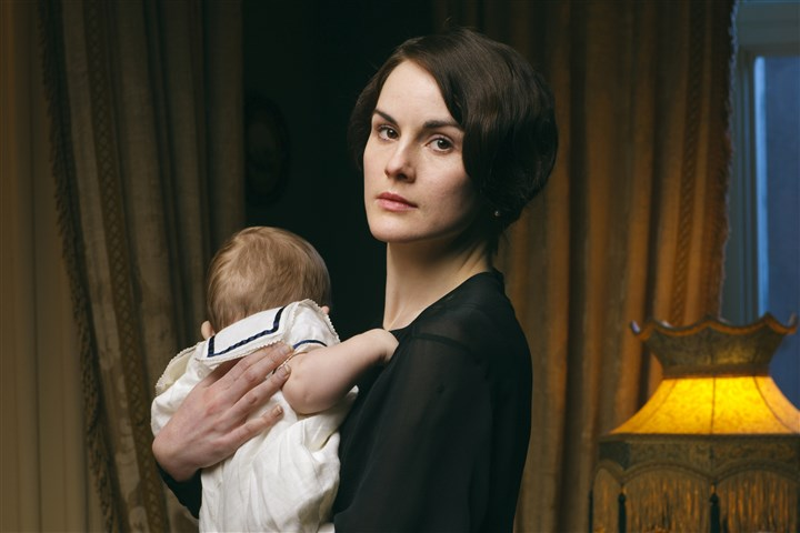 TV-Downton Returns Michelle Dockery stars as the 'marble beauty' Lady Mary in the PBS Masterpiece series 'Downton Abbey.'
