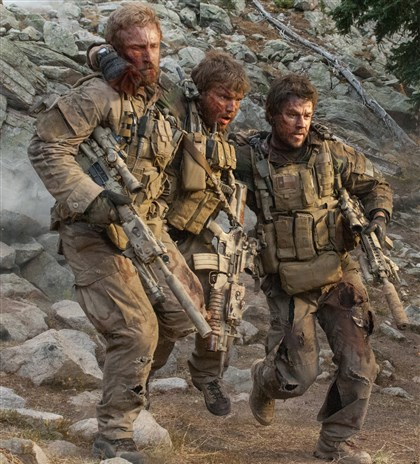 "Lone Survivor From left, Ben Foster, Emile Hirsch and Mark Wahlberg in ""Lone Survivor."""