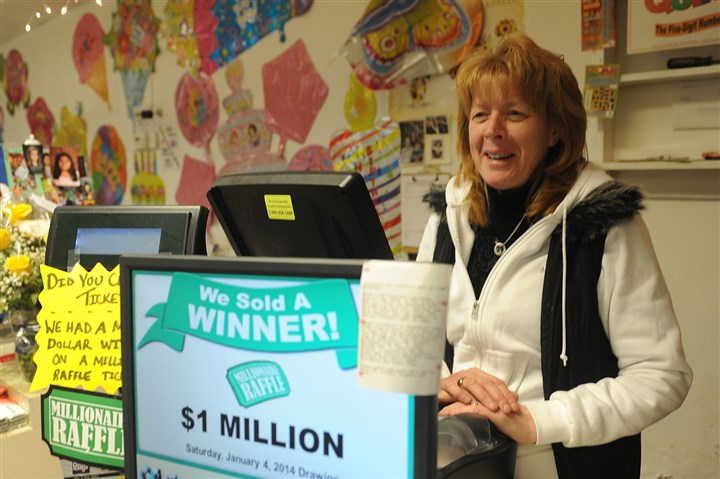 raffle Darlene Lutheran, owner of Eiseltown Flowers and Gifts on Mount Washington, wants to give a hug to the winner of the Millionaire Raffle ticket that was sold at her store.