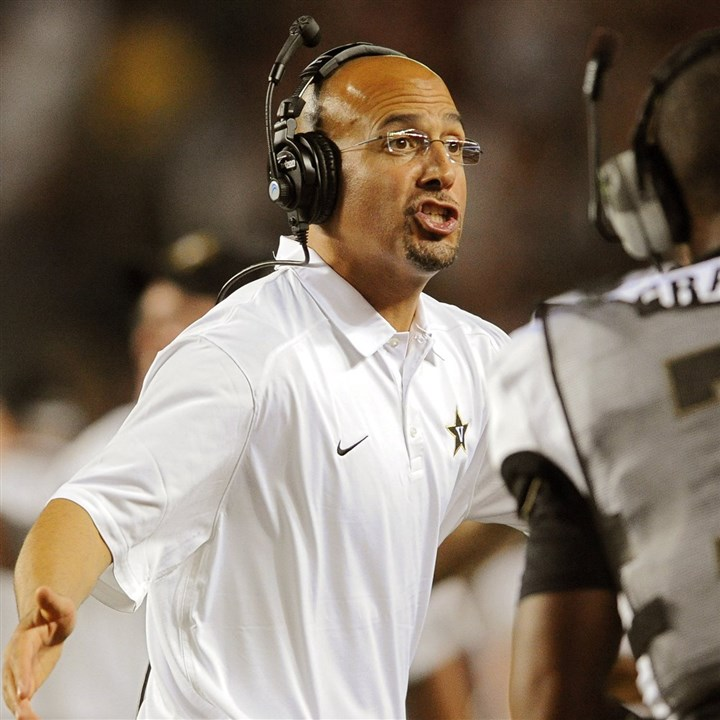 franklin0010 Vanderbilt's athletic director believes Penn State target James Franklin will still be the Commodores' coach next season.