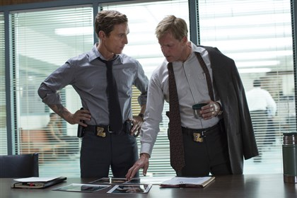 "truedetective2-3 Matthew McConaughey, left, and Woody Harrelson star in ""True Detective."""