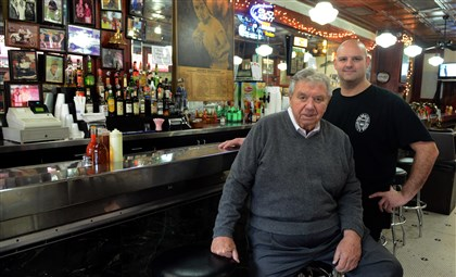 Oyster Bar owner Lou Grippo, owner of the Original Oyster House in Market Square, and his nephew and manager, Rick Faust.