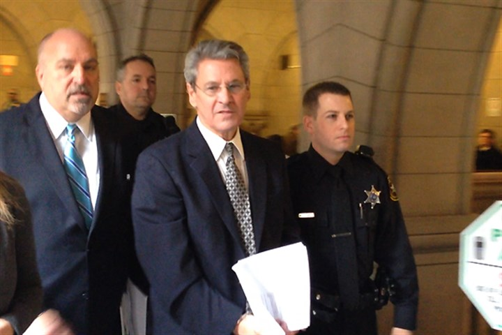 2014 Ferrante at Allegheny County Courthouse Robert Ferrante, center, leaves the Allegheny County Courthouse after a hearing on Friday.