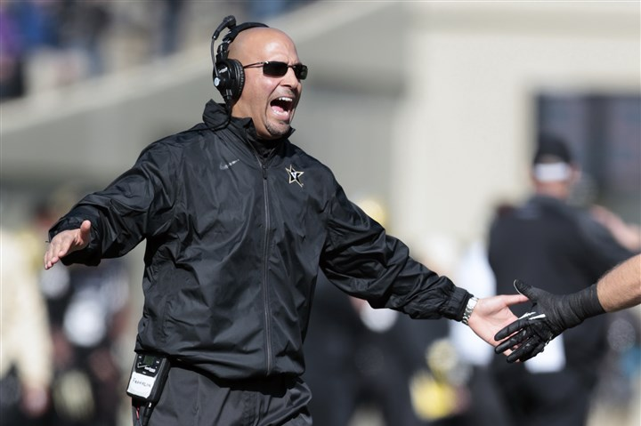9lv00kse Vanderbilt head coach James Franklin after a touchdown against Wake Forest on Nov. 30 in Nashville, Tenn.