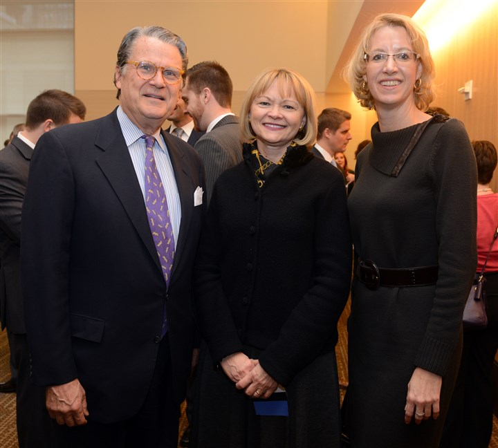 Leadership Pittsburgh Luncheon Art Stroyd, chair Dolly Ellenberg and Tacy Byham at the Leadership Pittsburgh Luncheon.
