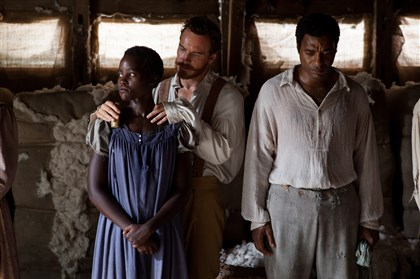 "12yearsaslave20140213 Lupita Nyong'o, Michael Fassbender and Chiwetel Ejiofor earned Oscar nominations for their performances in Best Picture nominee ""12 Years a Slave."""