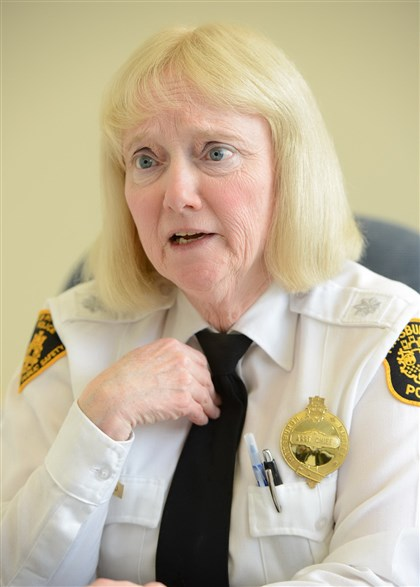 9ju00l2z Regina McDonald, who took over as acting chief of Pittsburgh police when Nate Harper was fired, says she will not apply to become the permanent chief.