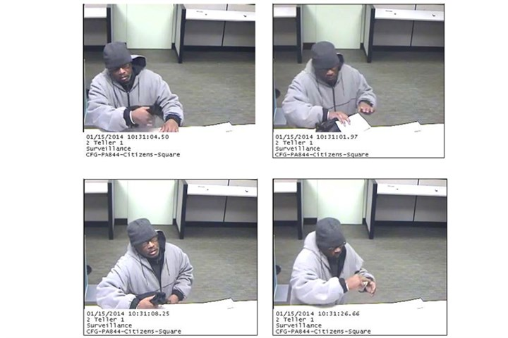 2014 Downtown Citizens Bank robbery Pittsburgh police released these surveillance images of a man at a Citizens Bank branch Downtown.