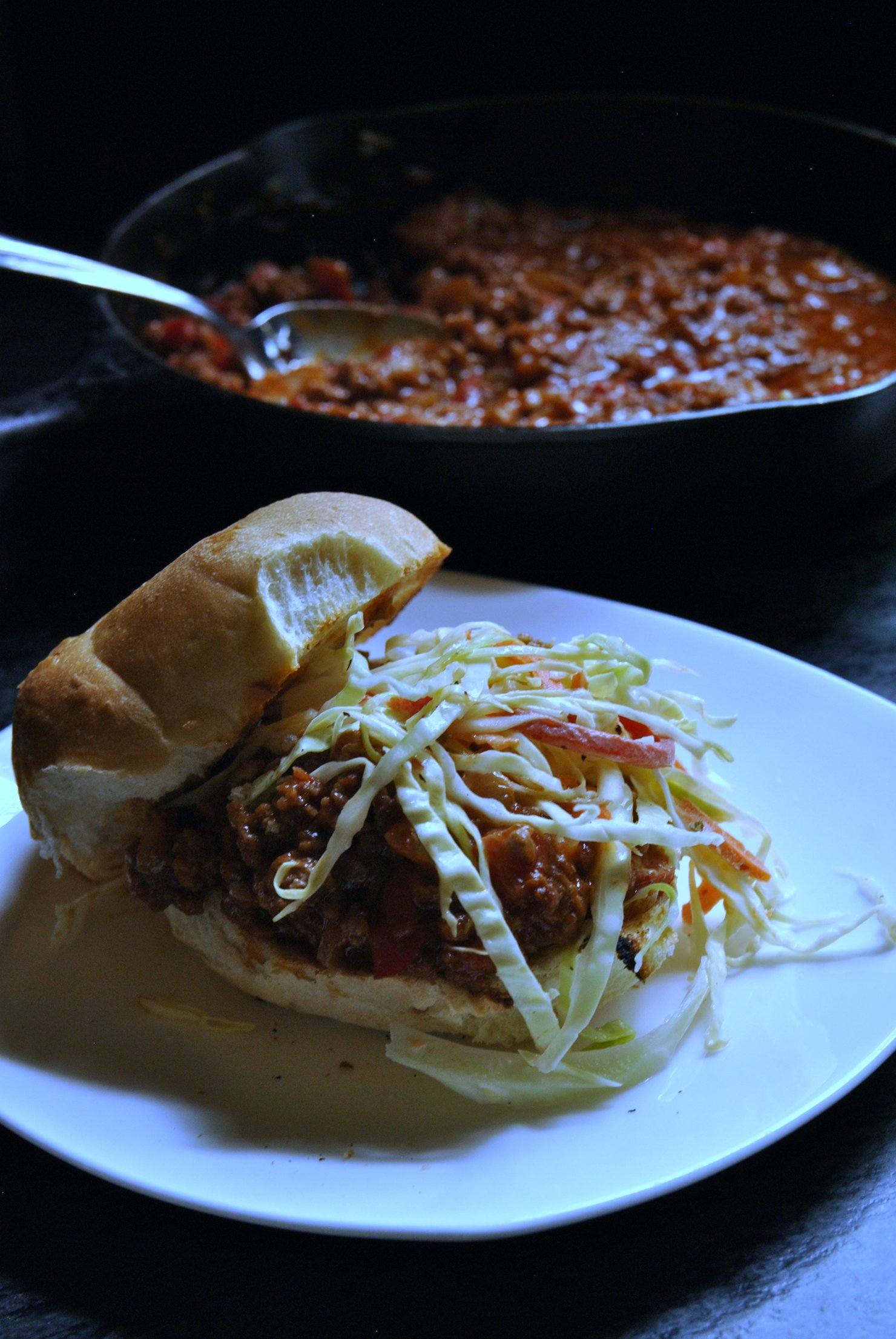 Skillet Sloppy Joes Skillet Sloppy Joes with Crispy Slaw.