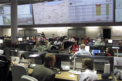 Ohio Emergency Preparedness The Ohio Department of Public Safety's Emergency Operations Center in Columbus, Ohio, is seen here during a demonstration in December. Pennsylvania dropped to 17th place for disaster preparedness, down from a fourth-place ranking in 2009; Ohio moved up to 7th from 18th place.