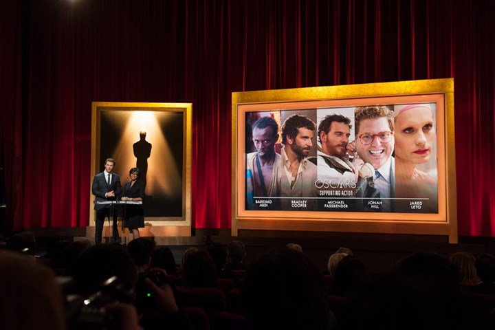 2014 Oscars nomination announcements Actor Chris Hemsworth and Motion Picture Academy president Cheryl Boone Isaacs announced the best supporting actor nominees for the 86th annual Academy Awards.