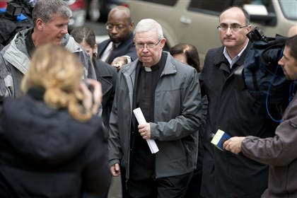 Philadelphia Monsignor William Lynn Monsignor William Lynn walks from the criminal justice center after a bail hearing on Jan. 6 in Philadelphia. The former Philadelphia Roman Catholic Archdiocese administrator won an appeal of his landmark conviction in the priest-abuse scandal was released from prison last week.