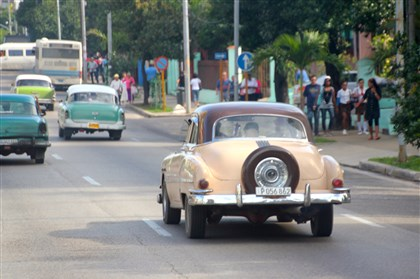 20140117psCubaSeen8-12 Many old cars still fill the streets in Cuba.