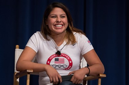 Olympic boxer Marlen Esparza Olympic boxer Marlen Esparza.