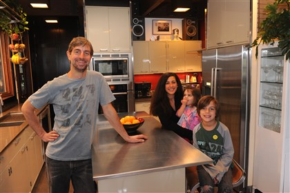 Kulesa Kevin Kulesa with his wife Alana and children Vivian, 2, and Niko, 7, in the kitchen of their Ross home.