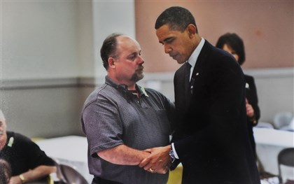 Upper Big Branch Obama President Barack Obama shakes hands with former miner Gary Quarles after a memorial service in April 2011 in Bekley, W.Va. Mr. Quarles' son, Gary Wayne Quarles, died in the Upper Big Branch mine explosion.