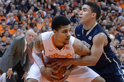 James Robinson Pitt guard James Robinson and his teammates proved they handle hostile environments when they went into the Carrier Dome and had No. 2 Syracuse on the ropes late in the game.