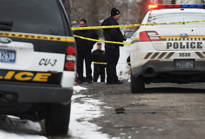 20140120MWHshootingLocal02-1 Police investigate the scene of a homicide on Rapidan Way in Larimer.