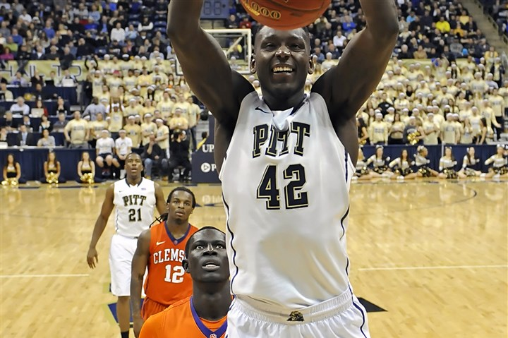 Talib Zanna Pitt's Talib Zanna dunks against Clemson in the second half Tuesday night at the Petersen Events Center.