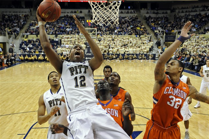 Chris Jones Pitt guard Chris Jones drives to the net against Clemson in the second half at the Petersen Events Center.