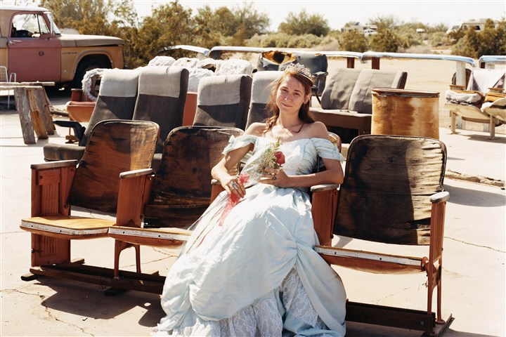 Joel Sternfeld - Queen of the Prom Queen of the Prom, the Range Nightclub, Slab City, Calif., March 2005.