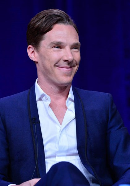 "Cumberbatch Benedict Cumberbatch of PBS's ""Sherlock"" at the Television Critics Association 2014 winter press tour."