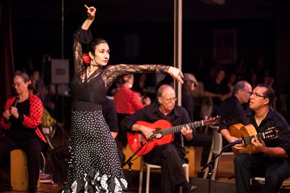 "Flamenca Carolina Loyola-Garcia is the co-founder and director of Alba Flamenca, which will perform at ""Fiesta Flamanca"" tonight."