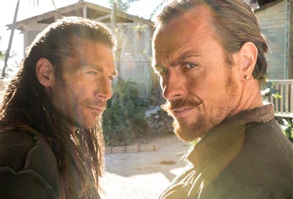 "Black Sails 2014 Zach McGowan, left, as Captain Charles Vane and Toby Stephens as Captain Flint on ""Black Sails"" on Starz."