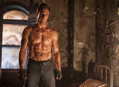 "I Frankenstein Aaron Eckhart stars as Adam in ""I, Frankenstein."""