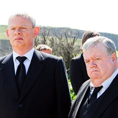 "Martin Clunes and Ian McNeice in Doc Martin Martin Clunes and Ian McNeice in ""Doc Martin."" Season seven reportedly won't air until January 2016 at the earliest."