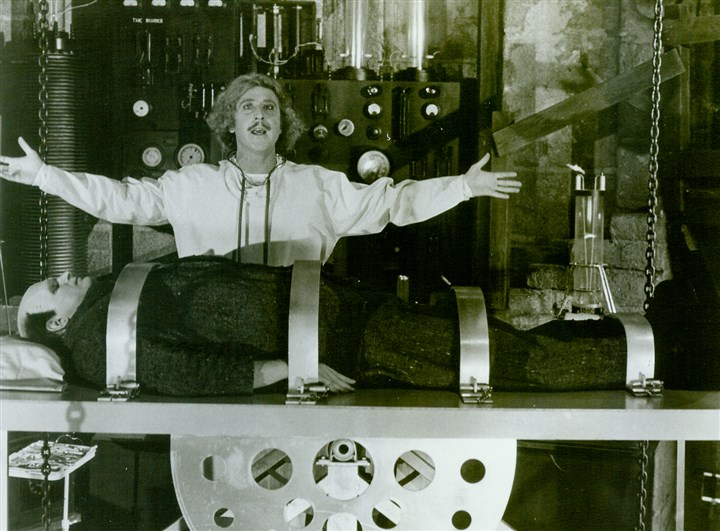 "Young Frankenstein Gene Wilder and Peter Boyle in ""Young Frankenstein."" 1974"