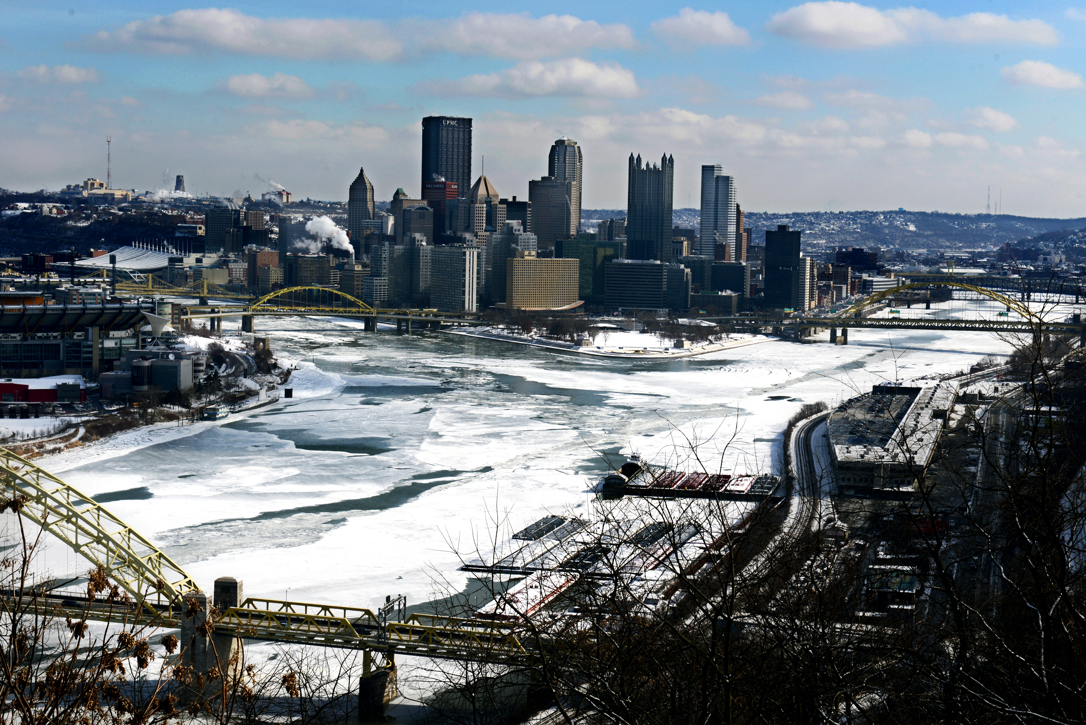 Frozen Rivers Pittsburgh