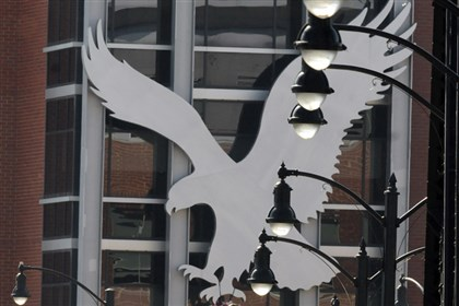 American Eagle headquarters logo American Eagle Outfitters is planning to open three stores in England this fall.